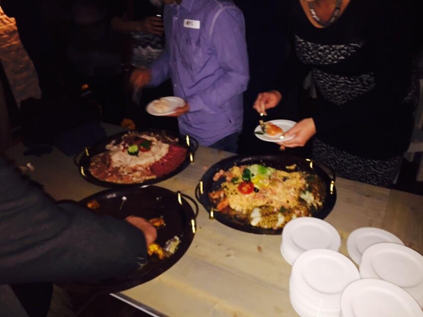 Grandcafe Seven Vriezenveen-verrrassing v.d zaak: een klein buffetje!