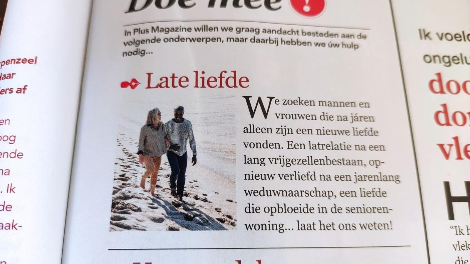 magazine Plus zoekt stellen die verliefd zijn geworden na een lange tijd van alleen zijn - datingoost - datingsite relatiebureau